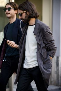 GQ's roving street style photographer, Robert Spangle, snaps the most stylish men attending the women's shows in Milan.