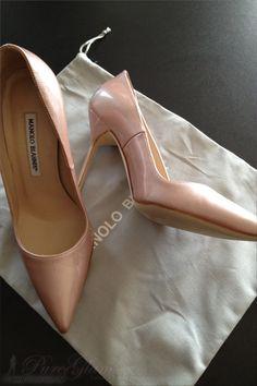 Manolo Blahnik – new pair of high heels – nude pearl look