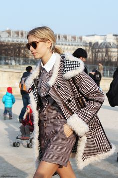 Elena Perminova. Paris Fashion Week.