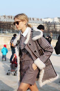 Elena Perminova. Paris Fashion Week.