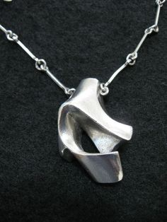 Lapponia Jewelry, Modernist sterling silver pendant, 1978. #Finland