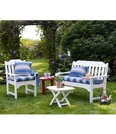 L.L.Bean's All-Weather Garden Bench - Made in the USA