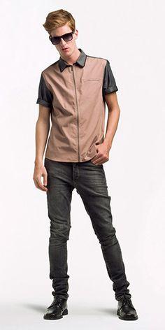 Camisa com zíper - Cotton Hi Density e Casual Suit Fio 40 // Calça jeans - Índigo Rizza Black 9,0 oz #menswear #camisaria #jeanswear #blackjeans #lookbook #summer #fashion #verao