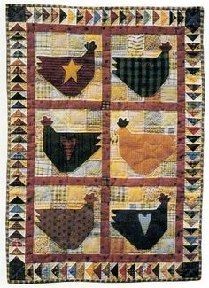 Chicken Salad Prim Chicken Wall Quilt Pattern