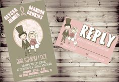 Cute High Resolution Cartoon Couple Hipster by TennesseeWeddings, $6.00 ADORABLE!
