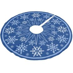 Snowflake Blizzard Brushed Polyester Tree Skirt