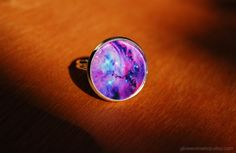 Orion Nebula Ring / Space Ring by glowwormshop on Etsy, $15.00
