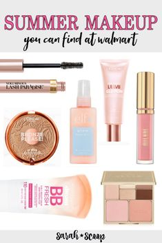Get the scoop on this Guide to the Prettiest Summer Makeup with my must have make up products from 💛 ★Shop Walmart's beauty section: Best Drugstore Makeup, Makeup Dupes, Makeup Kit, Best Makeup Products, Beauty Products, Elf Dupes, 80s Makeup, Lipstick Dupes, Skin Makeup