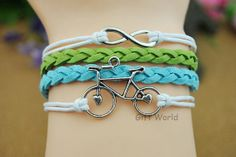 Silver Infinity wish bracelet  Bicycle bracelet  by TheGiftWorld, $2.99