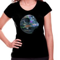 Camiseta estrella de la muerte graffitti 12€ #starwars #camiseta #regalos