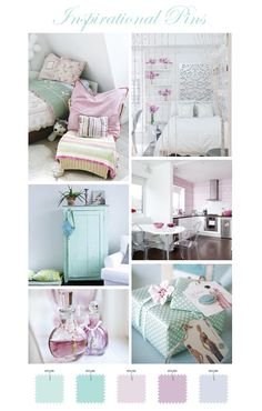Lovely lilac & aqua- could be cute colors for a girl nursery