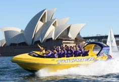 Take an exciting jet boat ride around Sydney Harbour. Visit us today and ride one of our exciting jet boats around Sydney Harbour. Book Now! Speed Boats, Power Boats, Motor Cruiser, Boat Hire, Australia Tours, Wet And Wild, Adventure Holiday, Boat Design, Pacific Ocean
