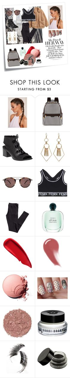 """""""Scandaleux Noir"""" by hawaiianmahomie on Polyvore featuring Post-It, Henri Bendel, 275 Central, H&M, Oliver Peoples, Fendi, Sisley, NARS Cosmetics, Illamasqua and Bobbi Brown Cosmetics"""