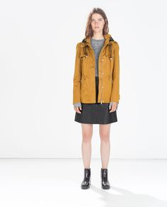 SHORT PARKA WITH WRAPAROUND COLLAR - Jackets - Outerwear - WOMAN | ZARA Czech Republic 2500,-