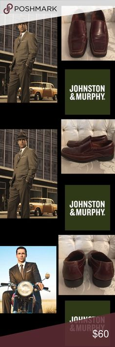 🔥Johnston & Murphy•Venetian Loafer•Brown Moc Toe Johnston & Murphy Brown Moc Toe Venetian Loafer  Throughout its illustrious history, Johnston & Murphy shoes have maintained a commitment to quality craftsmanship and innovative designs•only the highest quality materials and components.Leather is hand selected from around the world and combined with traditional and proven construction for a fit that cant be beat.  Slip-on Venetian loafers with moc toe stitching and dual elastic gore…