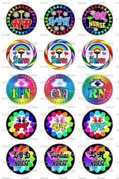 Nurse Rainbow Bottle Cap Images 4x6 Bottlecap by designsbyPM