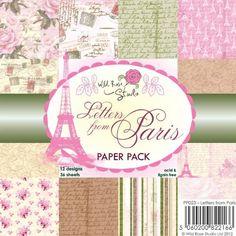 "Wild Rose Studio - 6""x6"" Paper Pad - Letters From Paris,$7.99"
