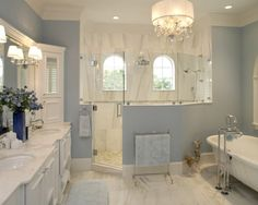 Great combination of the old and new styling in a bathroom