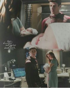 Barry and Caitlin in the speed force