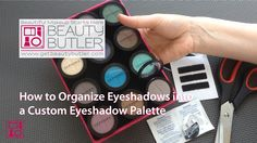 A quick tutorial how to organize eyeshadows into a custom palette.  Use your favorites from MAC, Sephora, NYX, Bobbi Brown, Urban Decay, Loreal, Covergirl and many more. Learn the many ways this amazing organizing system keeps your makeup protected, makes it easier to use and allows you to see all your makeup at a glance. Click here to learn more: http://www.getbeautybutler.com When you're makeup is organized, it's more fun to use. I promise!  -Danielle, Creator and founder of Beauty Butler