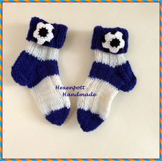 Socken - Socken Fu0ballsocken Gr. 21-22 - ein Designerstück von Hexenpott bei DaWanda