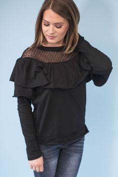 Max Ruffle Mesh Top-[product_description]-[product_tag]-Stella B. Clothing