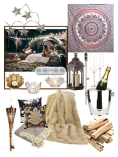 """""""Glamping"""" by heejin434 ❤ liked on Polyvore featuring interior, interiors, interior design, home, home decor, interior decorating, Frontgate, HiEnd Accents, Threshold and Cultural Intrigue"""