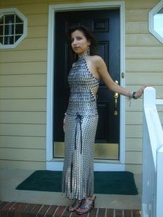 dresses with soda tabs | had to start with this one. Because she actually commented on one of ...