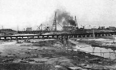 6 June 1918, work begins on building the Industrial Canal entrance at the lakefront