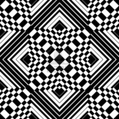 A black and white pattern consisting black and white thick lines and boxes.