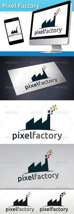 Pixel Factory  Logo Design Template Vector #logotype Download it here:  http://graphicriver.net/item/pixel-factory-logo/3496591?s_rank=162?ref=nesto