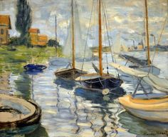 Claude Monet - Sailboats on the Seine, 1874 at the Legion of Honor (Fine Arts Museums of San Francisco CA) | Flickr - Photo Sharing!