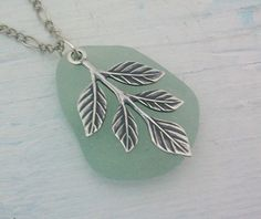 silver and seaglass...