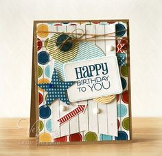 Birthday card by Laurie Schmidlin using Verve Stamps.