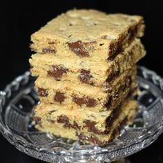 Original Nestle® Toll House® Chocolate Chip Pan Cookie Recipe - Allrecipes.com - Easier and less time consuming than baking cookies yet still that wonderful Toll House chocolate chip taste.