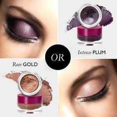 We want to know – which cream eye shadow do you prefer: rose gold or intense plum? #oriflame