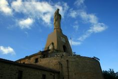 50 foot statue of Jesus stands atop Mota castle in the beautiful coastal city of San Sebastian. This day trip offers great ocean views from an elevated position. See the view, check out this PICFARI  | Picfari.com