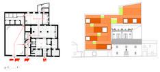 Professional Cooking School in Ancient Slaughterhouse,Original Plan & Deployed Roof Diagram