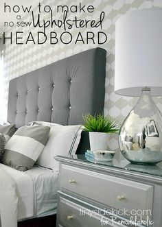 http://www.phomz.com/category/Night-Stand/ DIY Upholstered Headboard Tutorial - TinySidekick.com for Remodelaholic