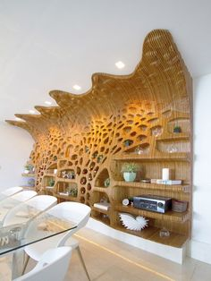 Agent based computational design by satoru sugihara at aa n 1 paris Wooden Wall Art, Wooden Walls, Wood Art, Facade Design, Wall Design, Architecture Design, Plywood Furniture, Cool Furniture, Furniture Design