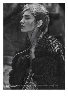 visual optimism; fashion editorials, shows, campaigns & more!: field notes: marine deleeuw by emma tempest for bon fall / winter 14.15