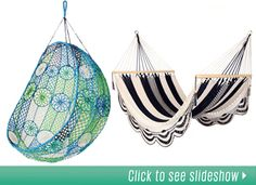 a list of lots of amazing Hammocks and where to buy them.