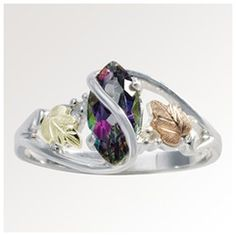 Black Hills Gold Mystic Fire Topaz Ring | http://www.stoneberry.com