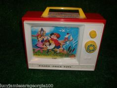 Vintage Fisher Price musicale box TV 1970's