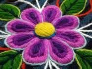 Resultado de imagen para bordado peruano de ayacucho Hand Embroidery Flowers, Crewel Embroidery, Cross Stitch Embroidery, Embroidery Designs, Mexican Embroidery, Needlepoint Patterns, Bargello, Christmas Images, Embroidery Techniques