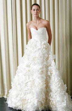 Monique Lhuillier Sunday Rose Floral Dress - Nearly Newlywed Wedding Dress Shop