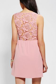 Pins And Needles Open Lace Back Dress #urbanoutfitters