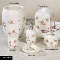 Rosalie Floral Bath Accessories By J Queen New York