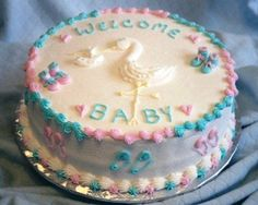 Pastel baby shower cakes for twin boy and girl.  I always wanted twins if I every had children - a boy & girl.  People thought I was crazy; however, I think it would have been a beautiful blessing!