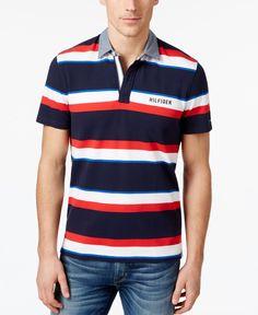 8fdb83e46f8 Tommy Hilfiger Men s Reggie Striped Polo